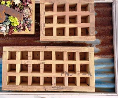 画像1: 採集して愛でる木箱/2.5cm角〜工場のおじいさんシリーズ