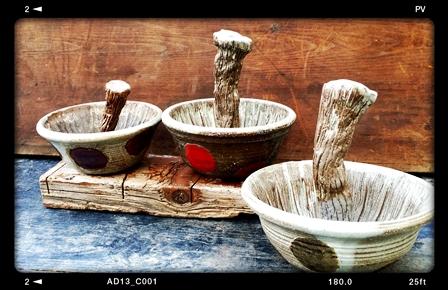 左から/A茶、B赤、Cカーキー
