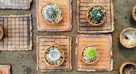 画像1: ドングリ鉢とノートのお皿〜正方形