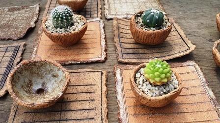 画像3: ドングリ鉢とノートのお皿〜正方形
